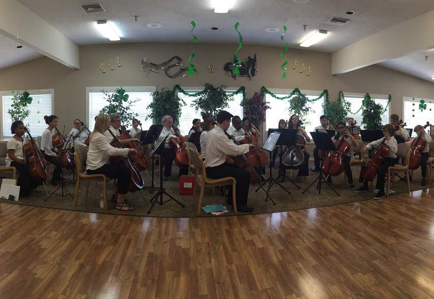 OC Cello Choir Live 2015